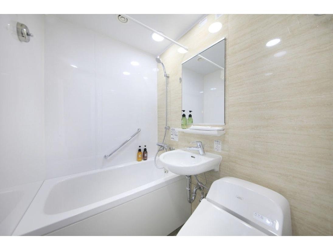 スーペリアシングルのみの特別仕様バスルームです。