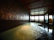 マイナスイオン効果の高い竹炭を浴場内に使いダブル美肌の湯と竹炭イオン効果でリフレッシュ空間。