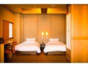 Cタイプ 本館2階 銭洲(ぜにす) ベッドルーム