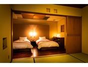 Dタイプ 本館2階 金洲(きんす) ベッドルーム