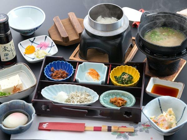 【朝定食の一例】
