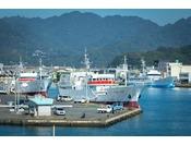 焼津旧港の漁船
