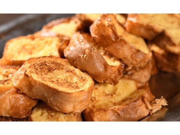 朝食一番人気「ふわふわフレンチトースト」