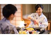 【和膳スタイル・お部屋食例】※大切な方とゆっくりと水入らずのご夕食をお楽しみください