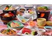 花巻産 白金豚のをメイン料理にした「和膳スタイル」※写真は竹膳、イメージとなります