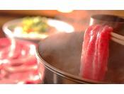 とろける舌触りが絶品!追加料理「前沢牛しゃぶしゃぶ」※1人前 5,400円(2名様分から受付)