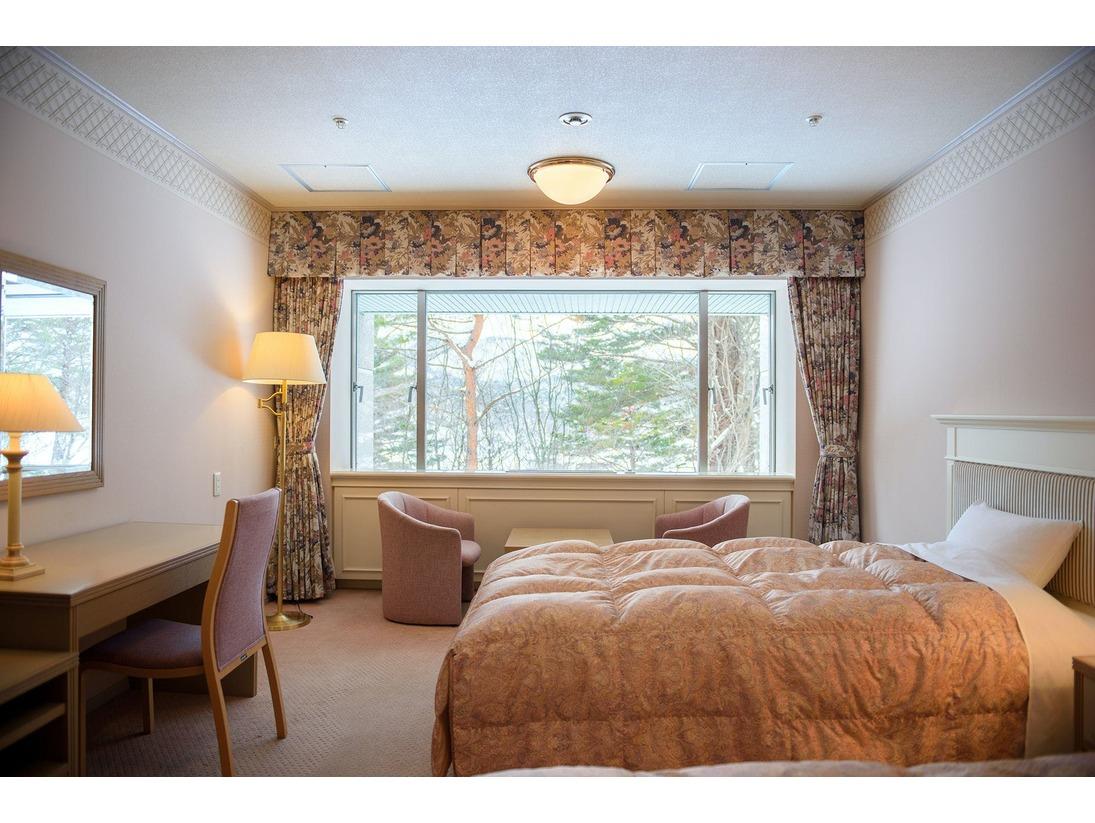 【本館五色の森】スタンダードツイン/36平米/シンプルで居心地の良いツインルームです。