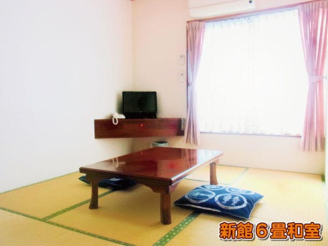 新館6畳和室(禁煙) TV・エアコン・空冷蔵庫・ネット接続環境(Wi-Fi&有線LAN)・ルームキー完備