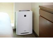 加湿機能付き空気清浄機 全室完備
