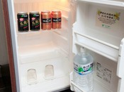 お部屋の冷蔵庫のビールなどのドリンクも無料♪
