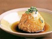 夕食一例:ジャガイモ饅頭