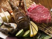 鉄板焼『伊勢海老、蝦夷鮑と十勝産黒毛和牛コース』<22000円>素材本来の味をお愉しみください。