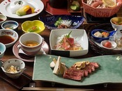 <十勝膳>和食会席膳と鉄板焼をお楽しみください