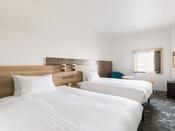 【客室】プレミアムツイン・部屋広さ…25m2・宿泊人数…1~2名・ベッド幅…120cm