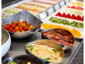 クラブラウンジでのご朝食は洋食ブッフェをご用意