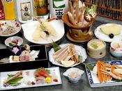 【蟹満載会席一例】蟹会席がグレードアップ!ほくほくの焼きガニもご賞味ください