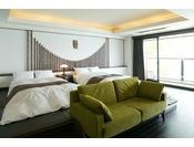 抱月はツインベット付の客室が7部屋、ベットがなく和室が広い客室が1部屋ございます。