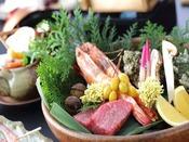 雅会席のグレードはそのままに、質を重視した会席料理秋の味覚をふんだんに取り入れおいしいものをご用意いたしました。