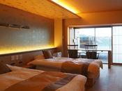 【新客室】洋室温泉風呂付きバリアフリー(部屋食)