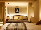 【新客室】8F温泉露天風呂付き特別室1デイベッド