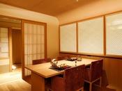 【新客室】8F温泉露天風呂付き特別室ダイニングルーム