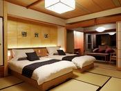 【リニューアル客室】9F温泉露天風呂付き特別室バリアフリー(部屋食)
