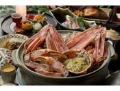 冬季_利久客室会席一例(11月~2月頃)※ズワイ蟹のみ2名盛りのイメージです