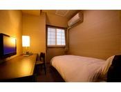 【シングルルーム(禁煙)】景色は楽しめませんが、リーズナブルにご利用いただけるお部屋です