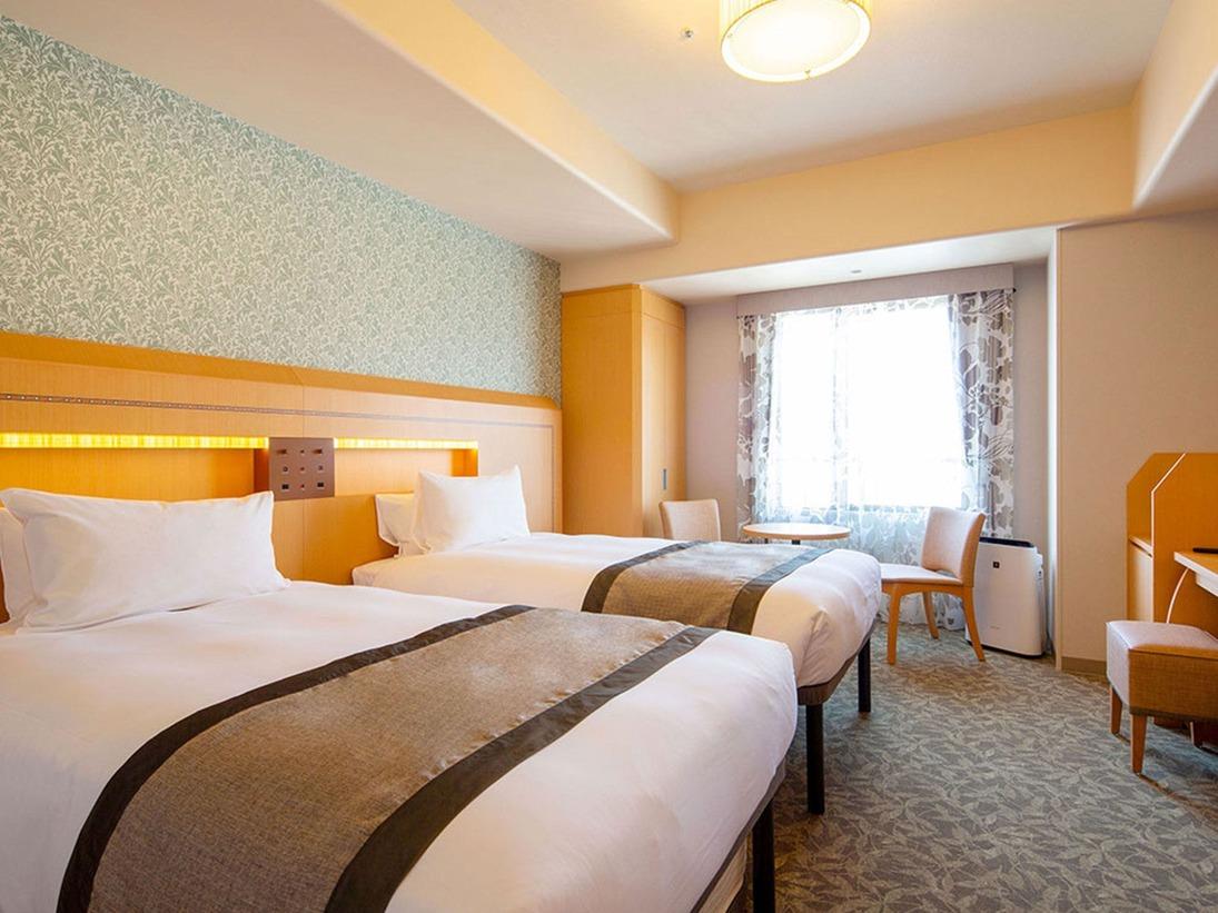 【客室】ツインルーム(ベッド幅:110センチ×203センチ 1台)