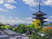 京都駅八条口(南口)から徒歩2分で、観光の拠点に非常に便利 ※イメージ