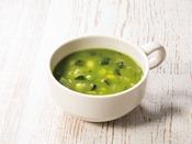 7種の野菜が入った具だくさんスープ。やさしい味に仕上げました。