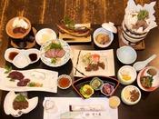 【松コース】十津川産鹿のフルコースをご用意!脂肪が少なくヘルシーな鹿肉をフルコースでご堪能下さい。