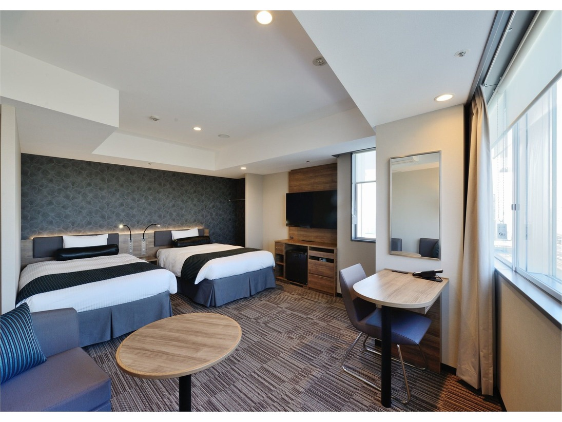 【EXツイン】36平米/12cm幅シングルベッド2台