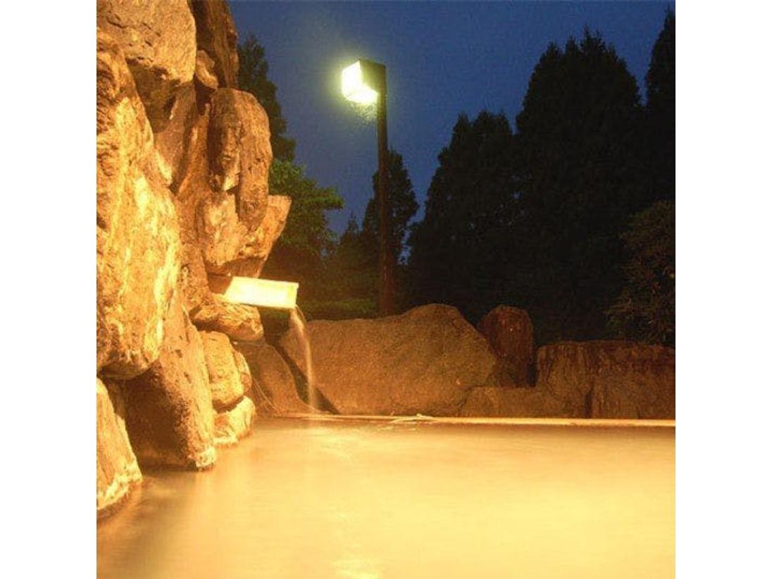 乳白色の効能豊かな天然温泉