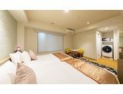 【はなれ】コンフォートツインルーム: 23平米 / ベッド幅120cm×2台 / 洗濯乾燥機・電子レンジ完備 / 全室禁煙