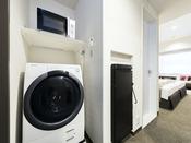 【客室設備】全室完備 洗濯乾燥機 / 電子レンジ