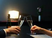 カップルにはスパークリングワイン(ハーフ)がついたカップルプランがオススメです。