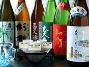 磯自慢や初亀など静岡の地酒を10種類以上常備しています