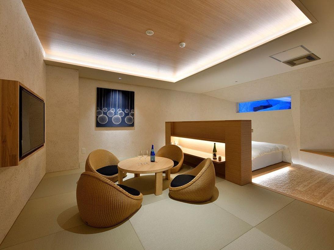 【特別室椿】露天風呂付の和洋室