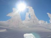 ■青空に映える真っ白な樹氷は一度は是非見たい景色です。