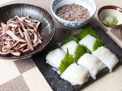 朝食ブッフェ ~函館名物「イカ」~ 函館産「イカ刺し」は毎日ご用意しております。