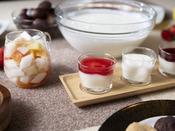 朝食ブッフェ ~デザートイメージ~ 函館牛乳ヨーグルトやプリンなどデザートもお好きなだけ。