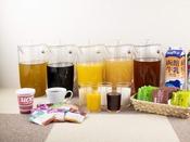 朝食ブッフェ ~ドリンクイメージ~ コーヒーはお部屋にもお持ち頂けます。