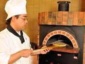 *【ディナーバイキング(一例)】出来立てピザは石窯で焼いた本格派!