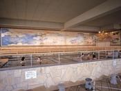 *【富士の湯:展望大浴場 外湯(一例)】圧巻の「元禄絵巻」を眺めながら、極楽タイム。