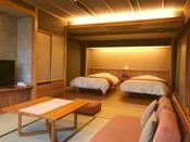 ■準特別室-清瀬-■源泉かけ流しの半露天風呂付きの人気のバリアフリータイプの和洋室です。
