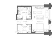 ※デラックスルーム(平面図)。お部屋により、平面図と異なる場合がございます。