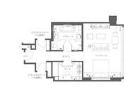 ※グランドプレミアガーデンルーム(平面図)。お部屋により、平面図と異なる場合がございます。