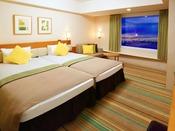 ◆ハーモニールーム(グリーン)◆サンドベージュを基調として、あたたかみのあるオレンジ・やすらぎのグリーンをアクセントに、たっぷり楽しんだ1日の余韻をやさしく包み込みます。※お部屋の色はご指定いただけません。
