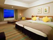 ◆シンフォニールーム(グリーン)◆サンドベージュを基調として、あたたかみのあるオレンジ・やすらぎのグリーンをアクセントに、たっぷり楽しんだ1日の余韻をやさしく包み込みます。※お部屋の色はご指定いただけません。